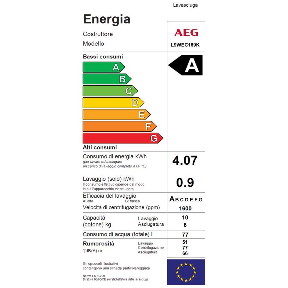 Lavasciuga AEG L9WEC169K