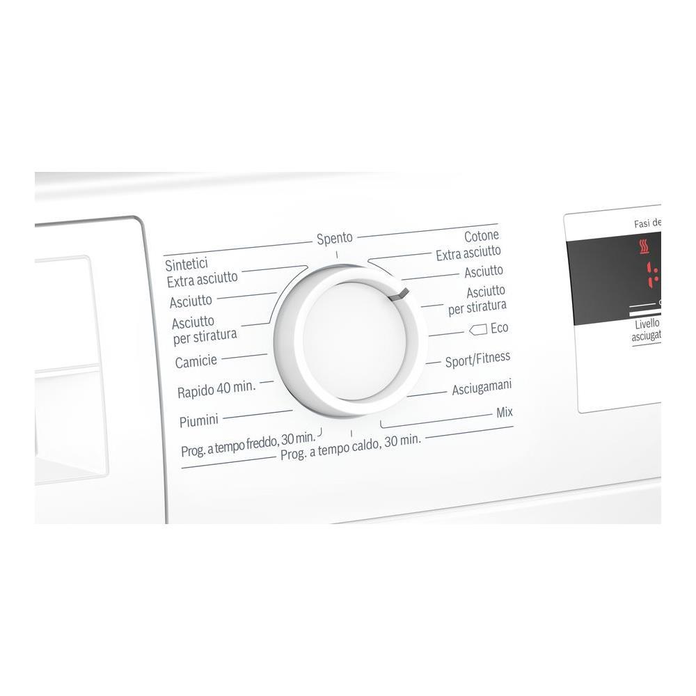 BOSCH Asciugatrice WTH83007II Serie 4 AutoDry, 7 Kg Classe A+ a Condensazione con Pompa di Calore