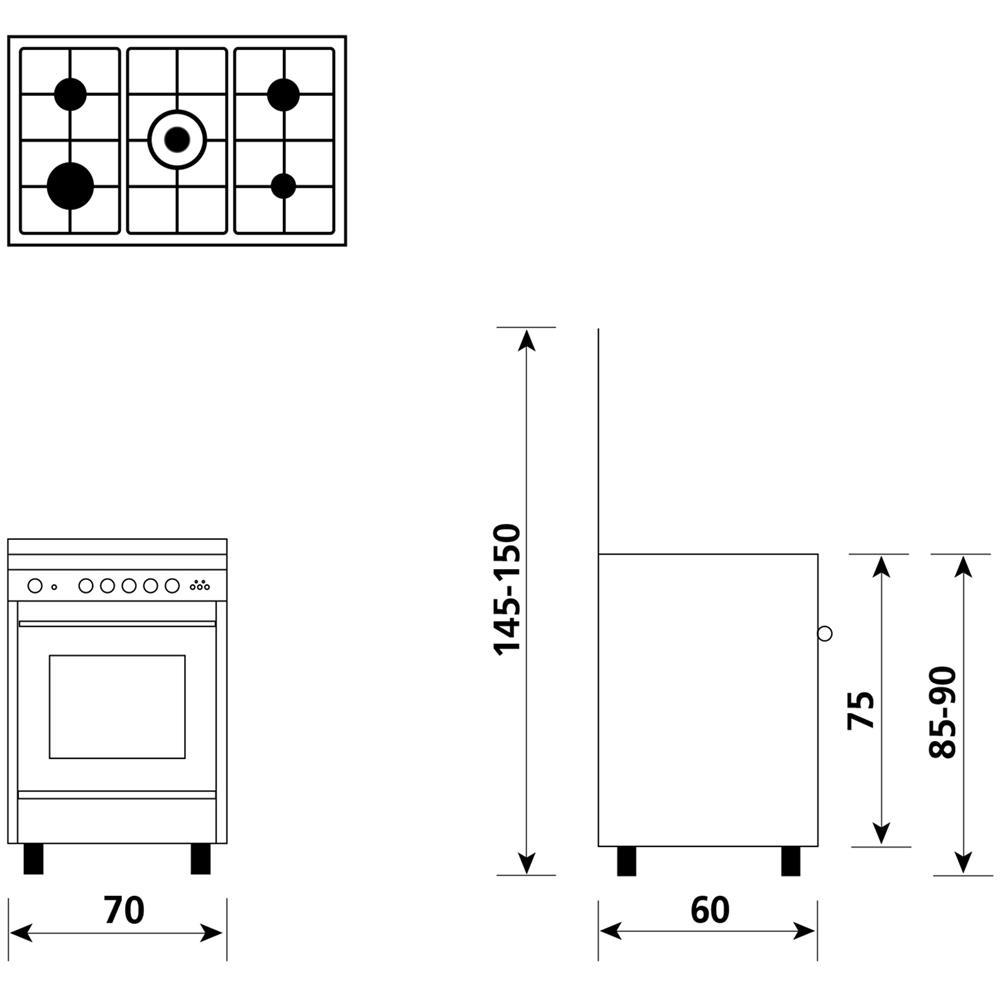 Cucina a Gas GLEM GAS U765MI6