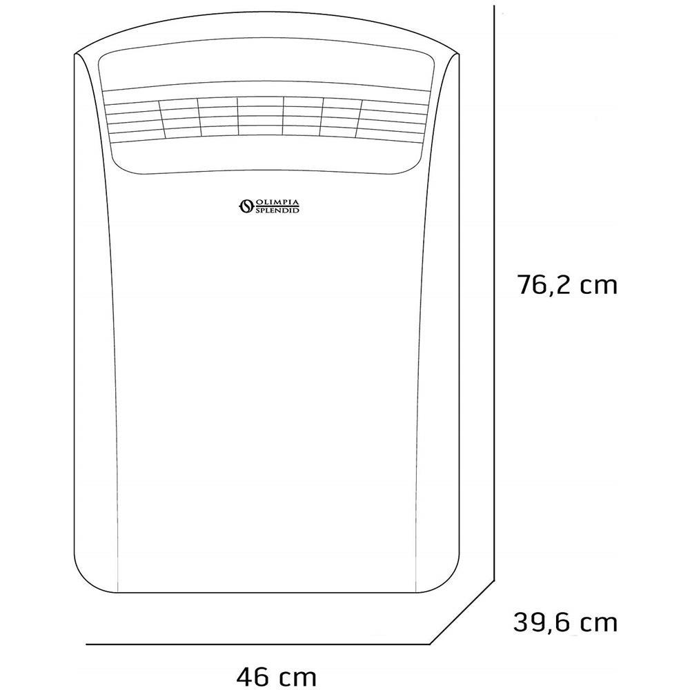 Condizionatore Portatile Monoblocco OLIMPIA SPLENDID Dolceclima Silent 10 P